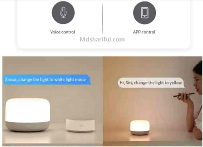 Yeelight LED bedside lamp 2 Review control
