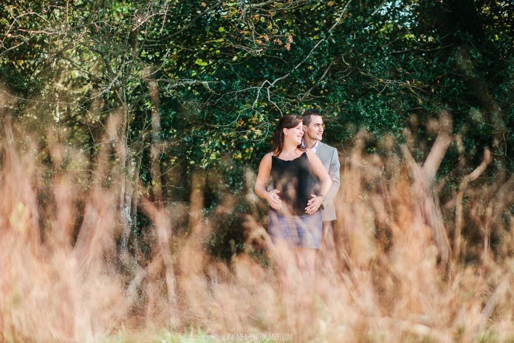 Myriam & Salvatore   Une séance grossesse à l'Abbaye de Paimpont