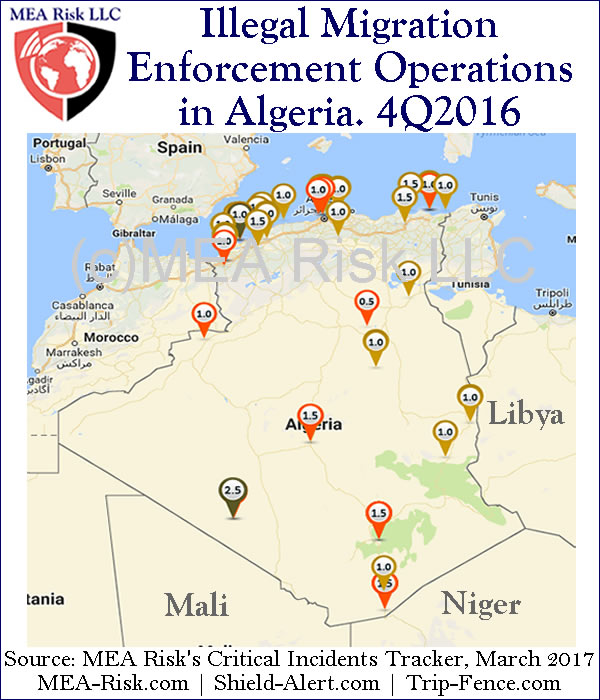 Illegal Migration Enforcement Operations in Algeria. 4Q2016