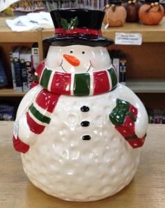 57. Ceramic Snowman Cookie Jar