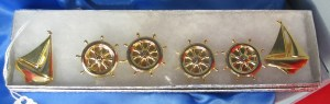 52. Set of Six Nautical Button Covers
