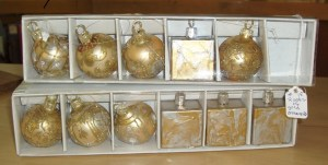 18.  Small Gold Ornaments, Two Sets