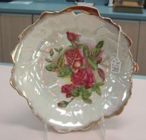 68.  Antique Floral Plate