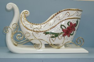105. Porcelain Sleigh