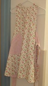 85. Pink Floral Print Apron