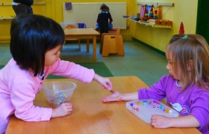 Parent and Toddler Stay and Play_Montessori Warfield_Working together (1)