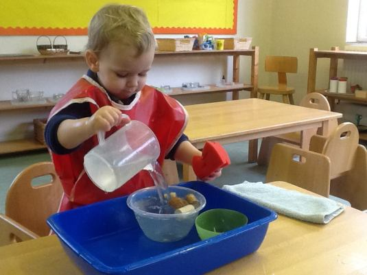 Parent and Toddler_Montessori washing