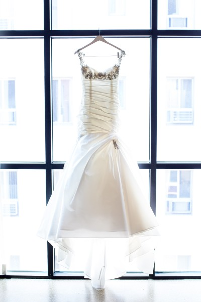 Brides' Dress Hanging at Redbury Hotel