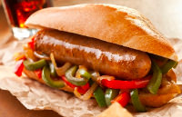 BBQ catering choices including our jumbo hot dog