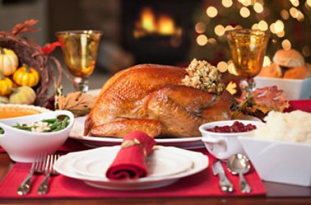 Traditional turkey dinner provided in our holiday party catering menu.