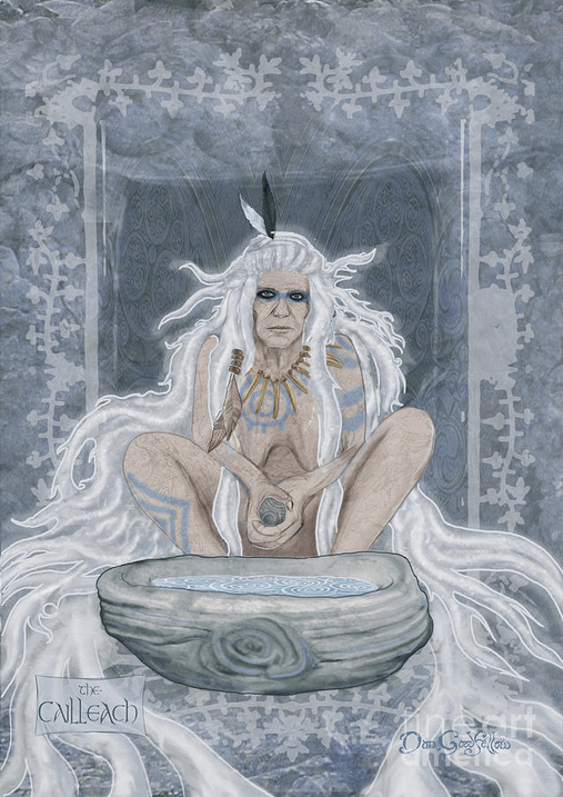 Cailleach by Dan Goodfellow, 2018 Imbolc Groundhog's Day Goddess Hag