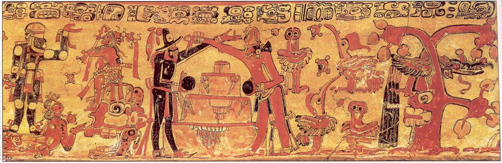 Divine Twins, The Maya Hero Twins Hunahpú and Xbalanqué Playing Ball, Mayan Rollout Vessel