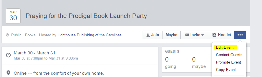 Facebook Launch Step 3