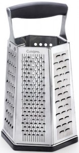 This 7-in-1 box grater from Cuisipro is our recommended grater.