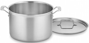 This stockpot from Cuisineart's Multiclad Pro line is our recommended stockpot.