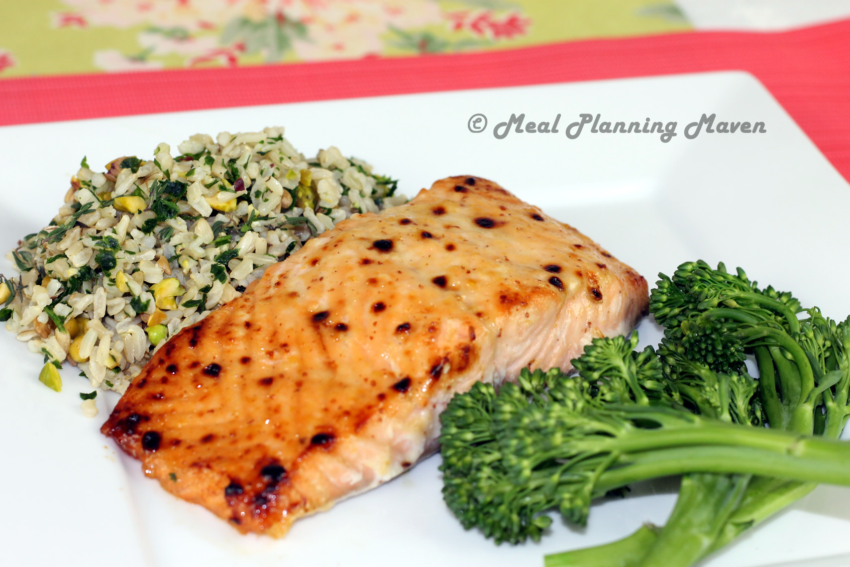 Apricot 'n Lemon Glazed Salmon