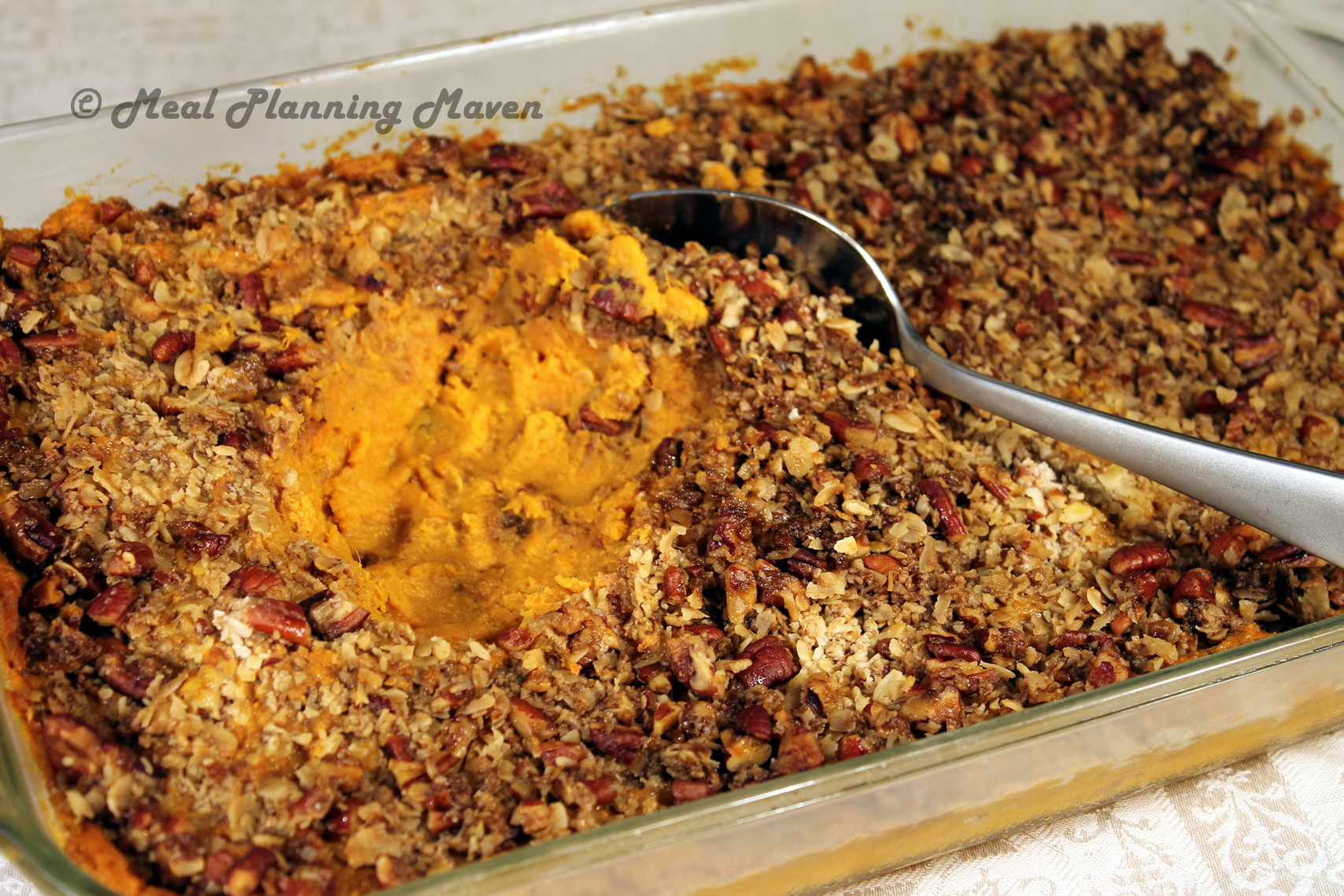 Sweet Potato Mash with Pecan Streusel Topping