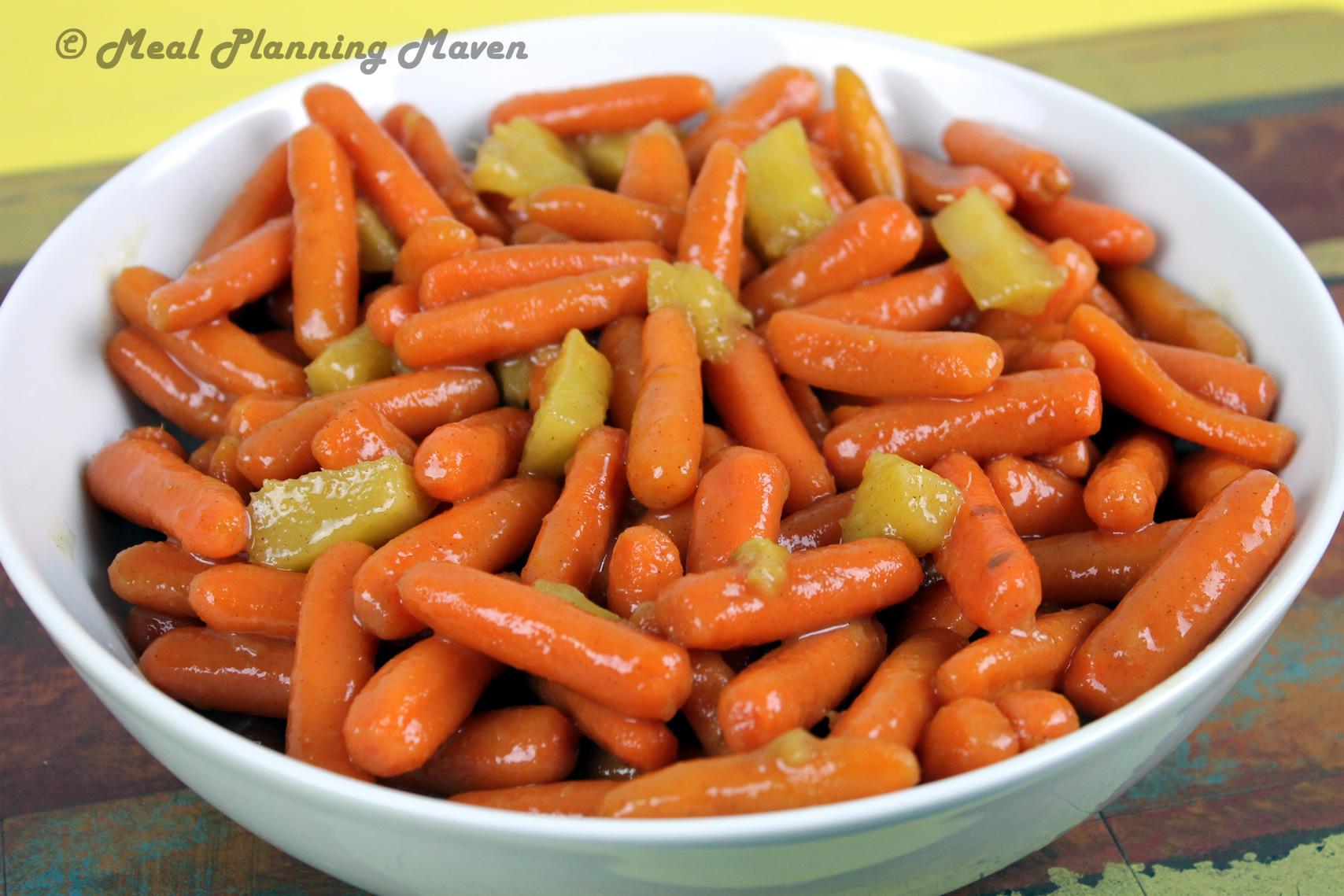 Apricot-Lemon Glazed Carrots 'n Pineapple