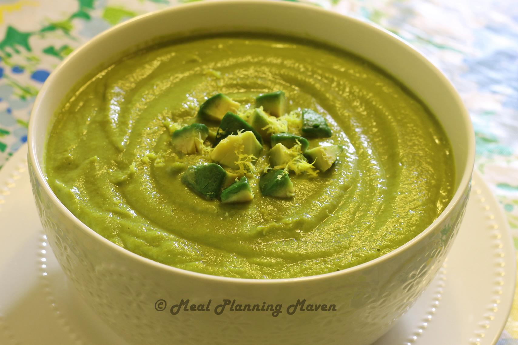"""""""Creamy"""" Broccoli 'n Cauliflower Soup"""