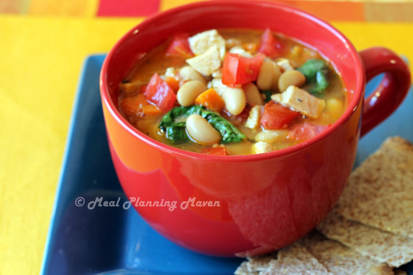 Chicken, Spinach and White Bean Stew