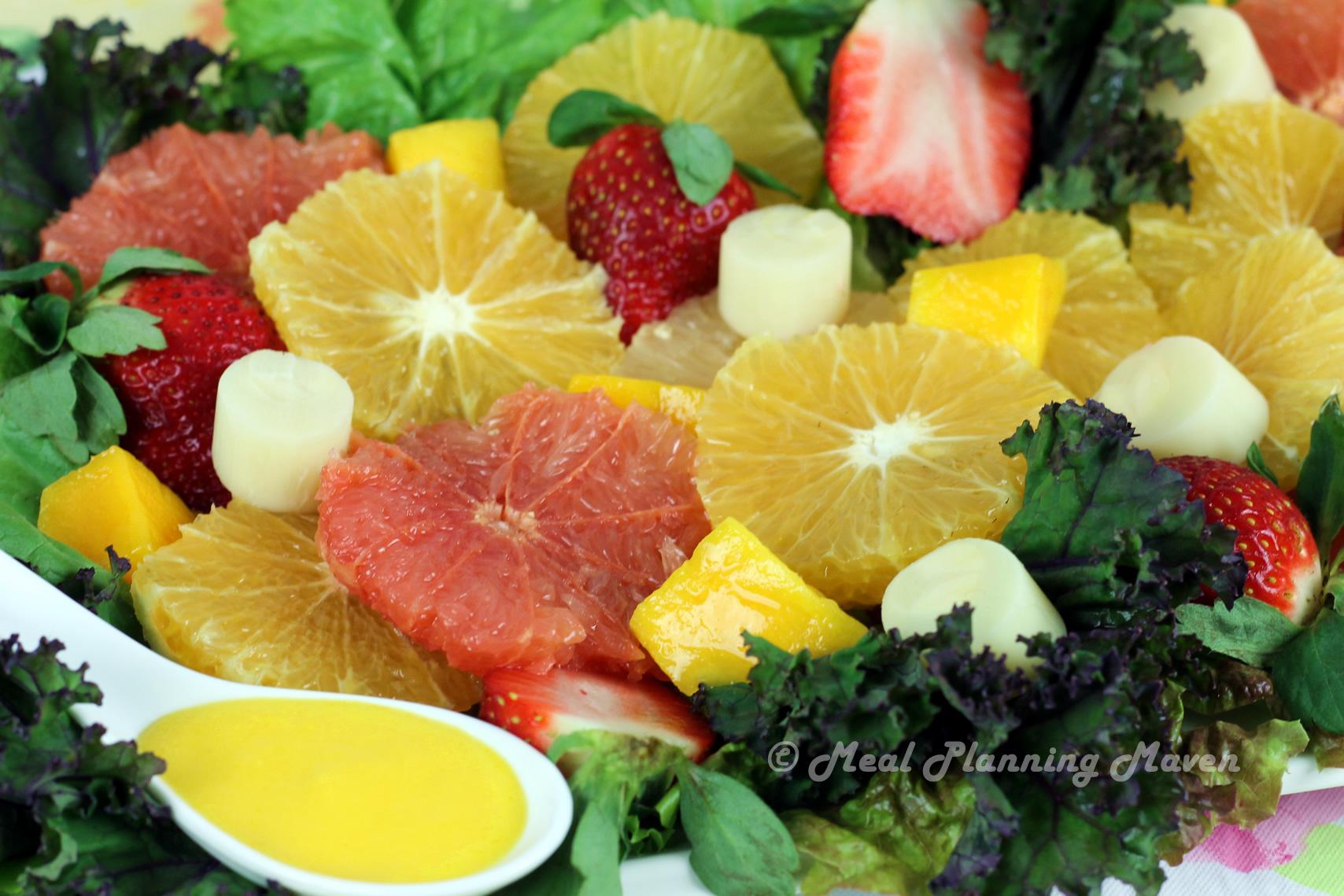 Florida Citrus Salad with Mango-Tangerine Dressing
