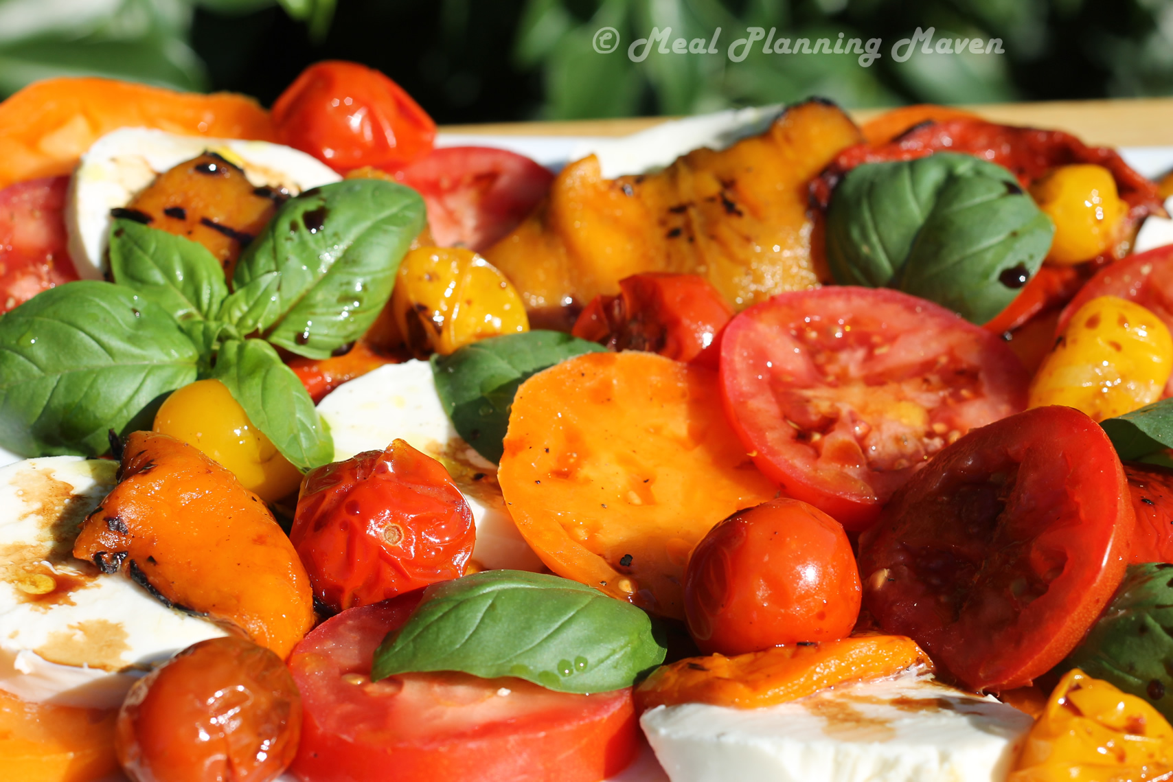 Grilled Pepper Caprese Salad