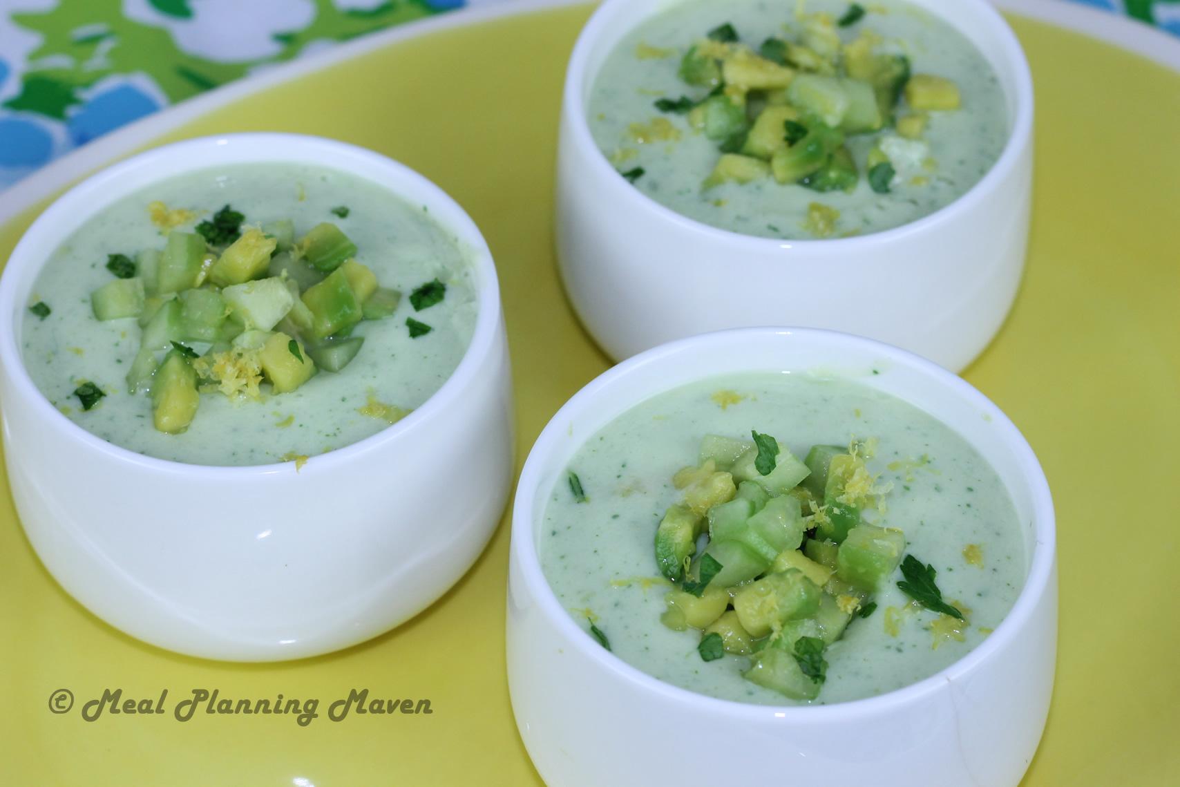 Jenn's Chilled Cucumber-Avocado Soup