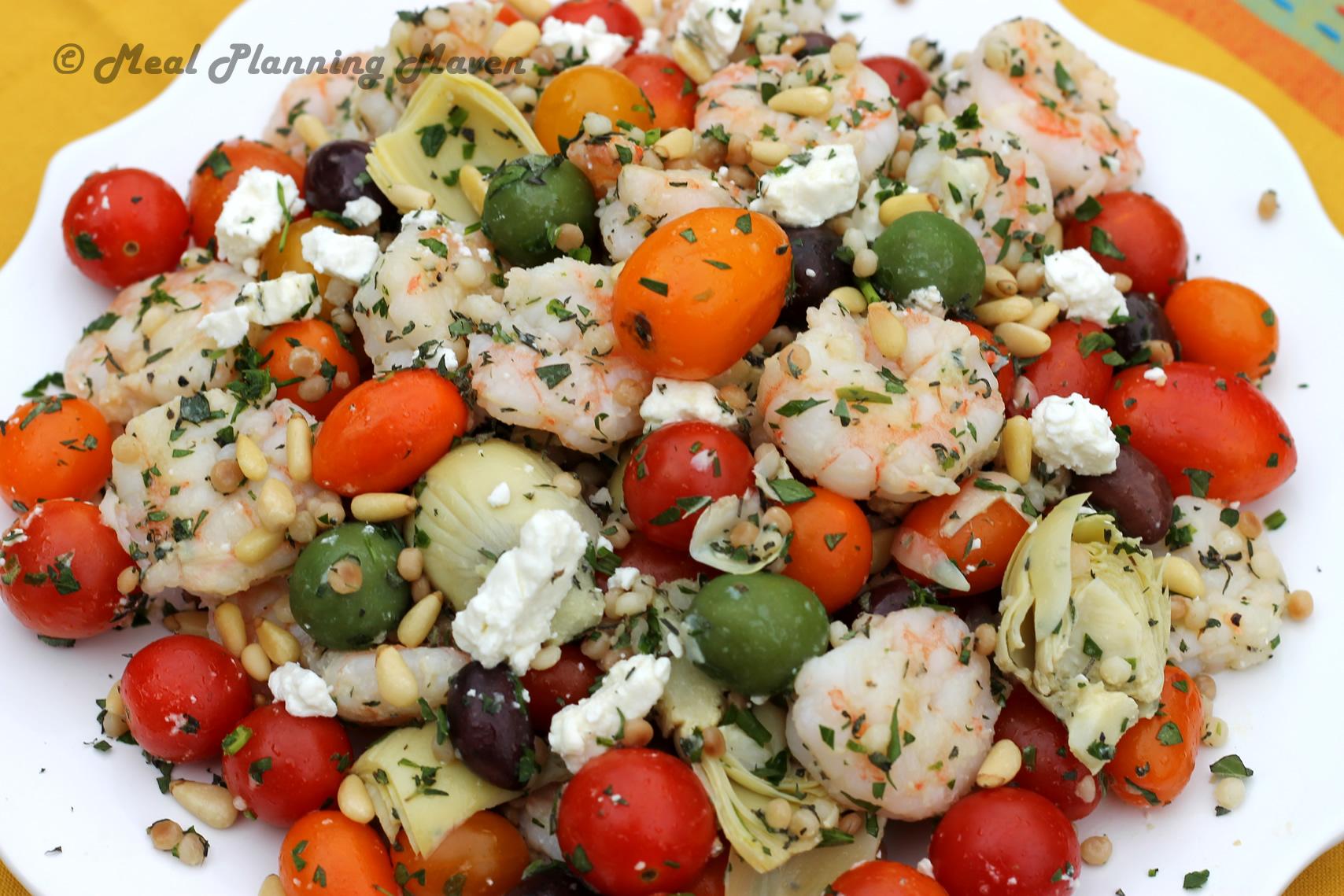 Mediterranean Shrimp 'n Couscous Salad