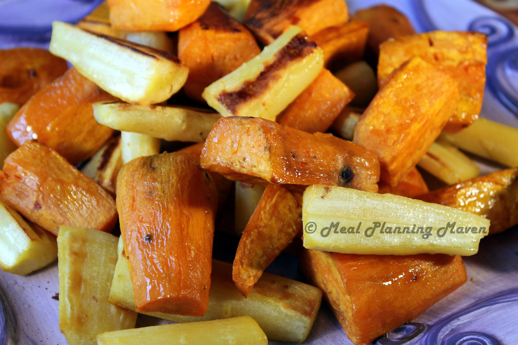 Roasted Sweets 'n Parsnips