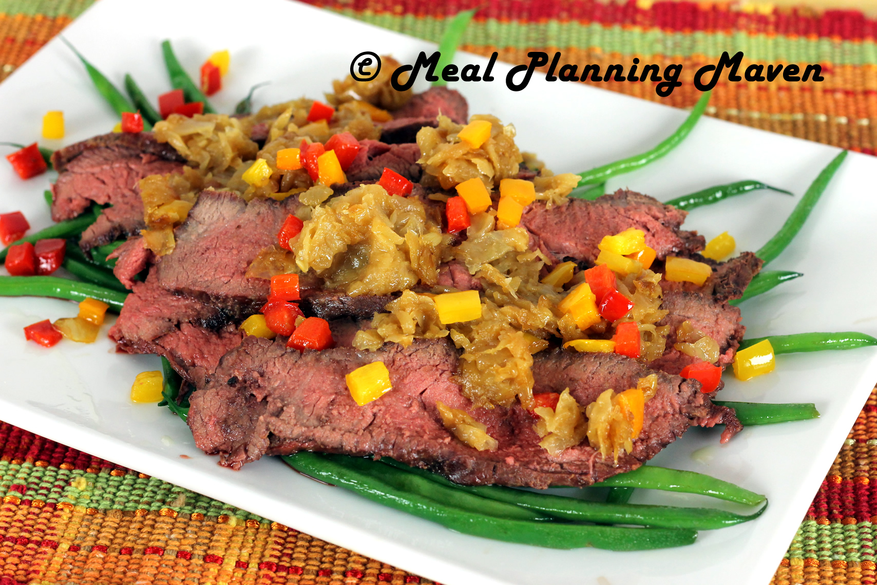 Grilled Tri-Tip Roast with Caramelized Onions 'n Peppers