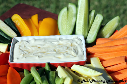 Veggie Crudités with Creamy Honey Dijon Dressing