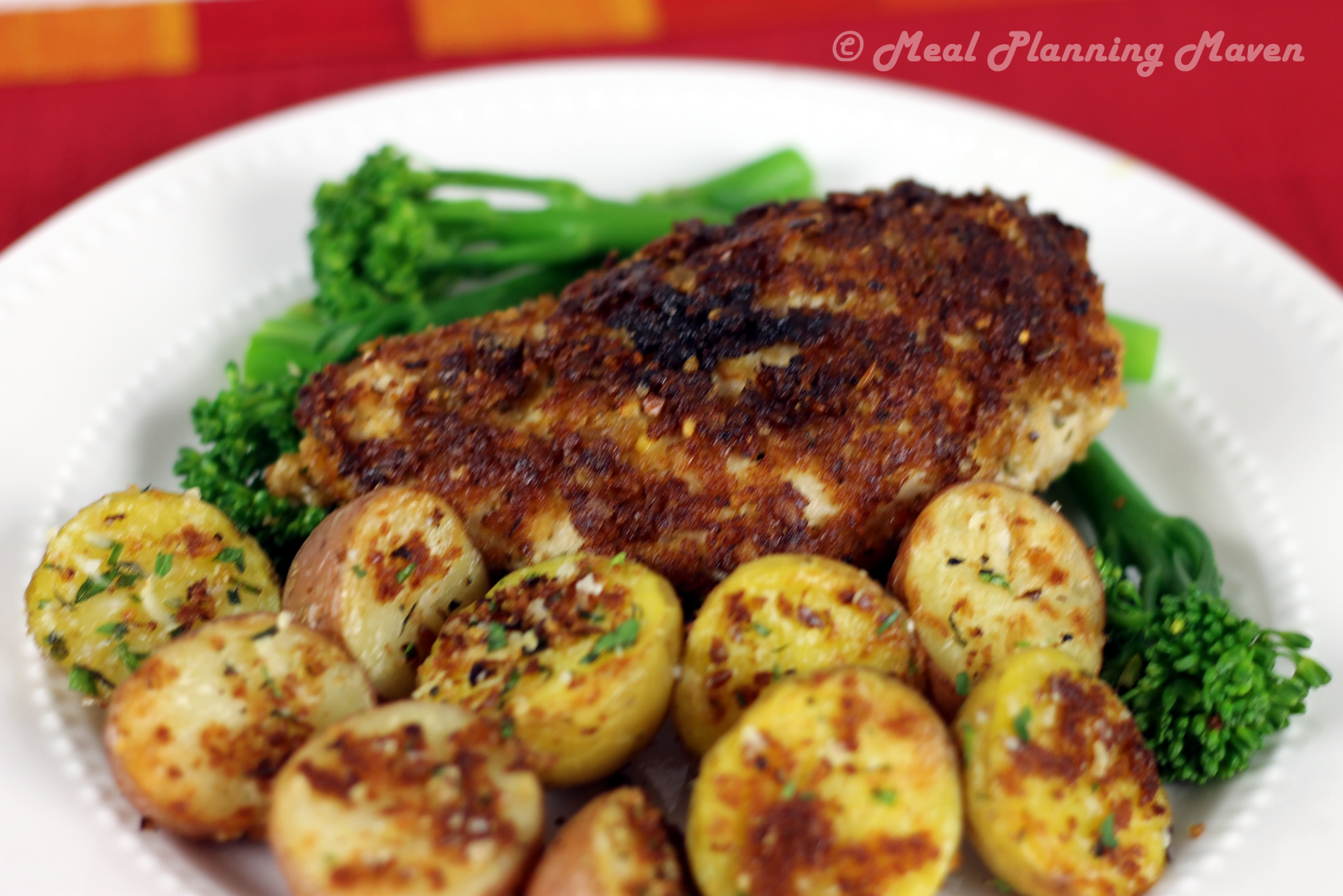 Almond Parmesan Oven-Fried Chicken