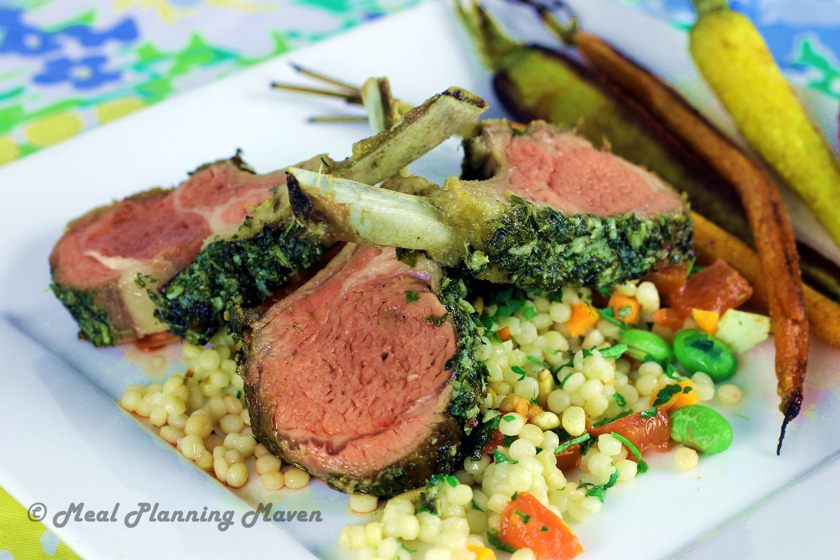 Dijon 'n Herb-Encrusted Rack of Lamb