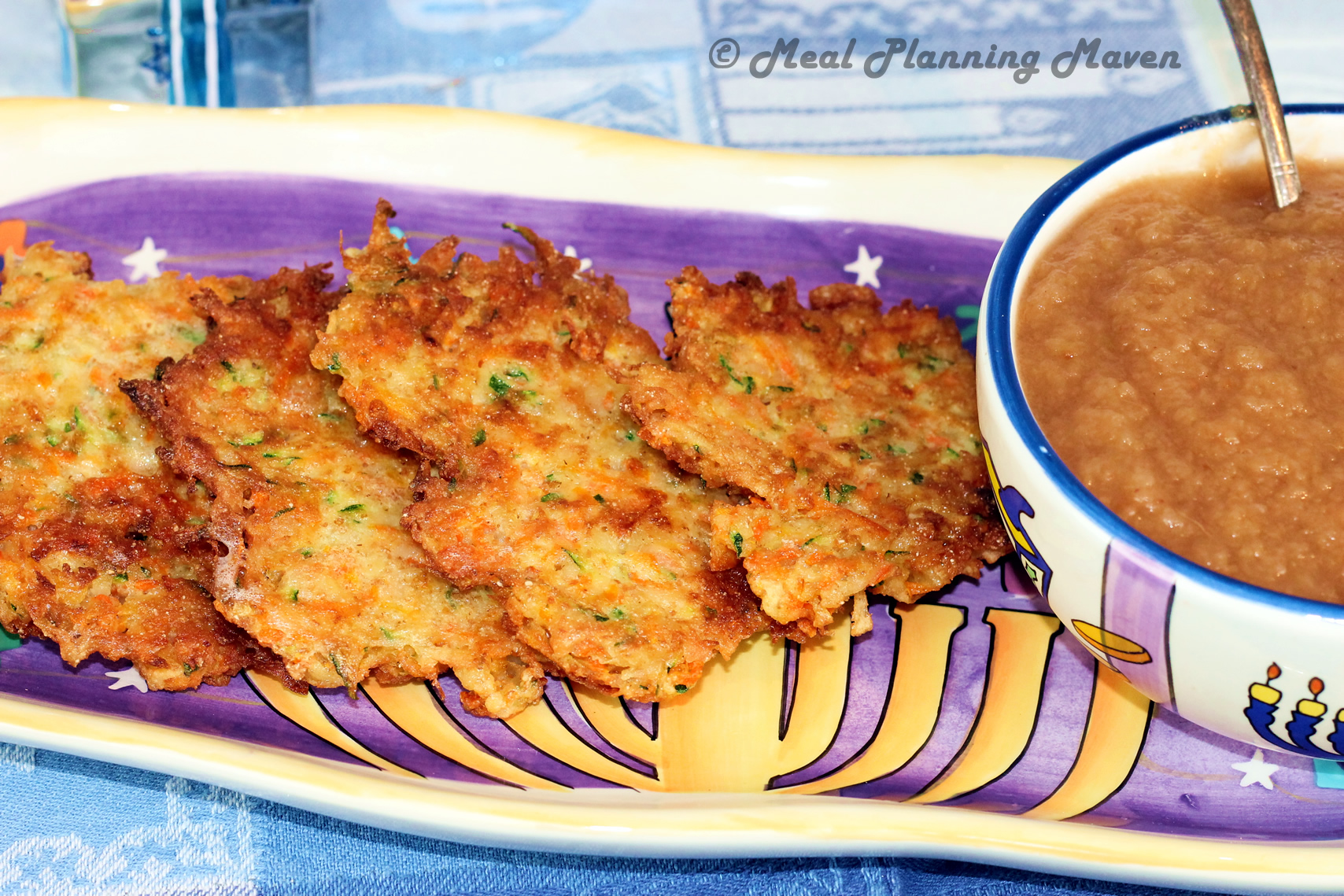 One of Our Favorite Potato Latkes and the BEST Homemade Applesauce