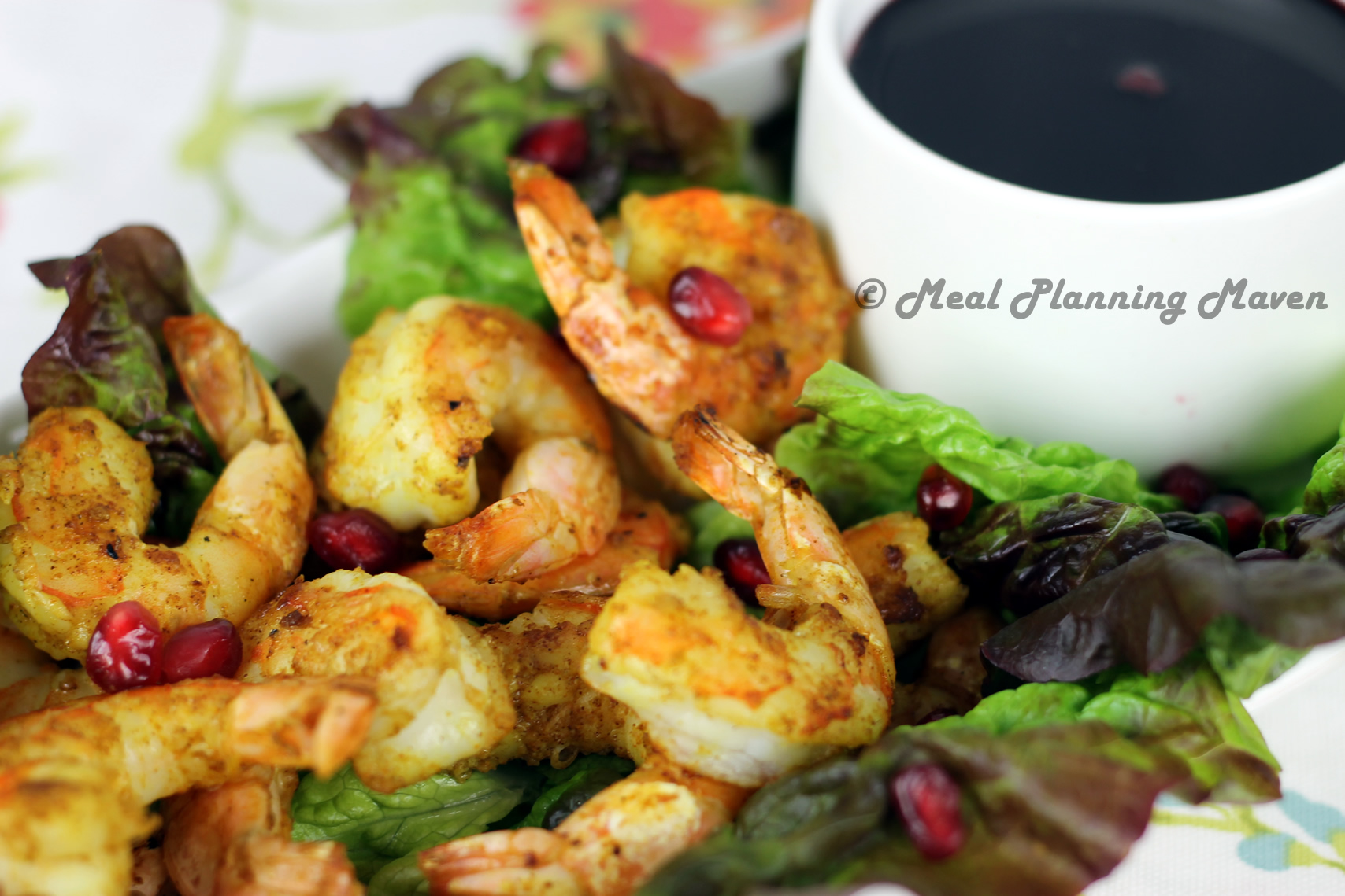 Grilled Moroccan Shrimp with Cherry-Pom Dipping Sauce