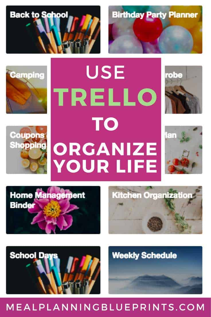 This is how I use Trello to organize my entire life as a busy mom! Plus LOTS of board templates! Trello for moms |  Trello templates | Trello meal planning | How to use Trello
