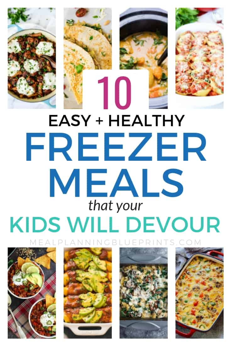 Easy + healthy freezer meals even if your kids are picky! I love freezer meals and I think they are the best way to save time in the kitchen. It's a bonus that these easy and healthy freezer meals are delicious for even the pickiest kids! Plus a free freezer meals planner printable!