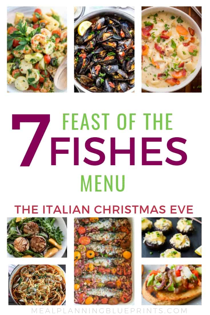 Seven Fishes Christmas Eve.Feast Of The Seven Fishes Menu The Italian Christmas Eve