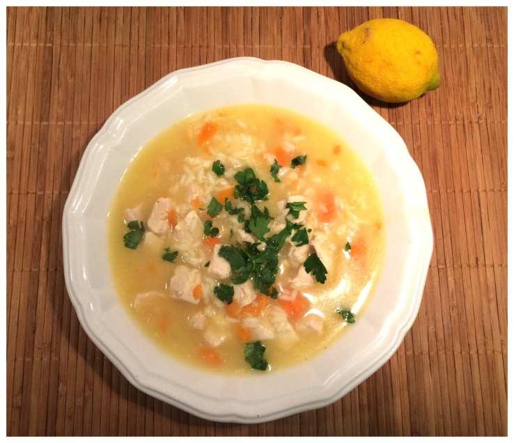 Weight Watchers friendly chicken lemon rice soup