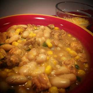 Southwest White Chicken Chili- 7 WW Points+