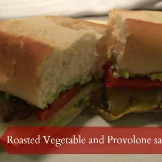 Roasted Vegetable and Provolone Sandwich