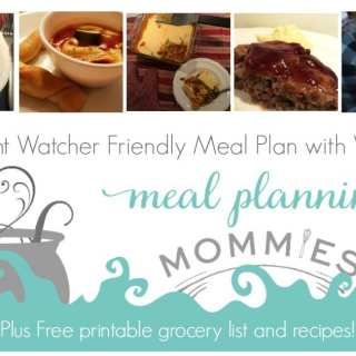 Free Weight Watcher Friendly Meal Plan and Grocery List #10
