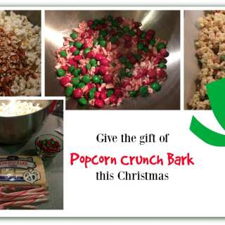 Popcorn Crunch Bark Christmas treat and Gift Idea
