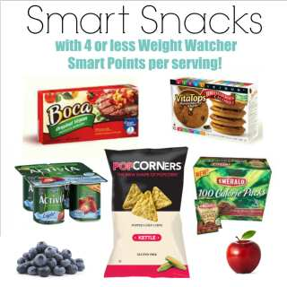 Smart Snacks with Weight Watcher SmartPoints