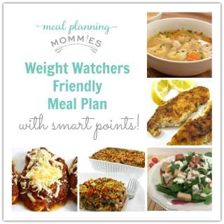 Weight Watcher Friendly Meal Plan with Smart Points #4 with FreeStyle Smart Points
