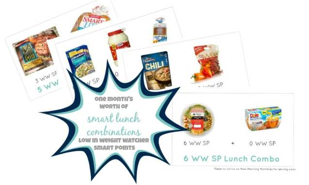 Smart Lunch combinations with low Weight Watchers smart points-Meal Planning Mommies
