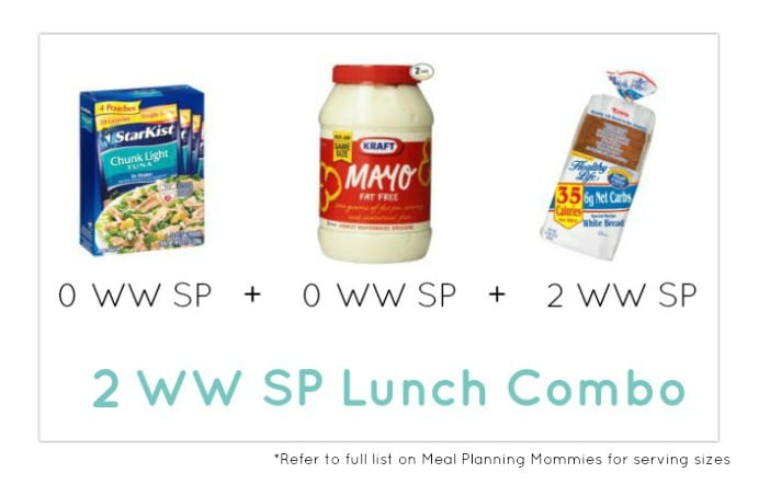 Weight Watcher Lunch Combo 12 - Meal Planning Mommies