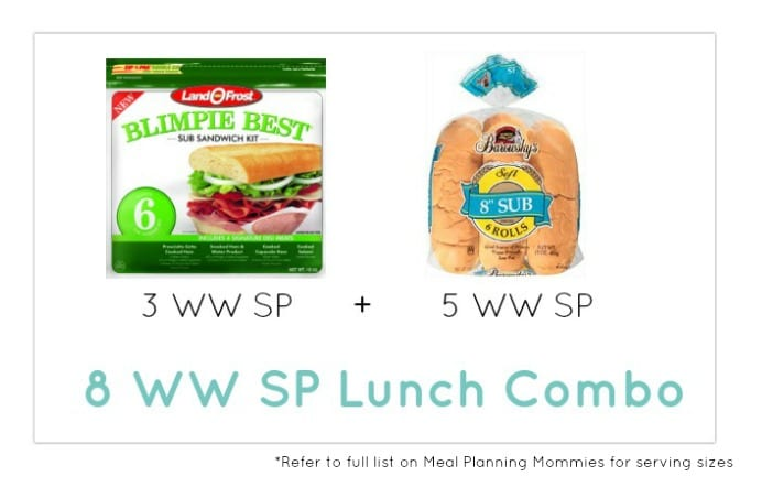 Weight Watcher Lunch Combo 30 - Meal Planning Mommies