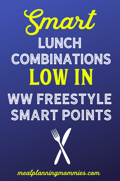 One month's worth of smart lunch combinations that are low in WW FreeStyle SmartPoints.