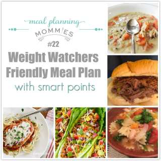 Weight Watcher Friendly Meal Plan #22